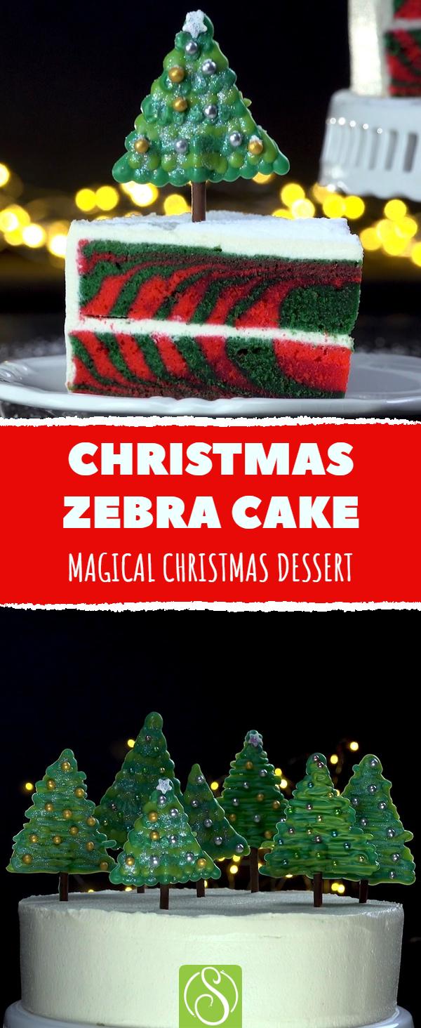 Christmas Zebra Cake Scrumdiddlyumptious Recipe Christmas Recipes Christmasrecipe Scrumdiddlyumptiousrec Christmas Tree Cake Xmas Cake Christmas Baking