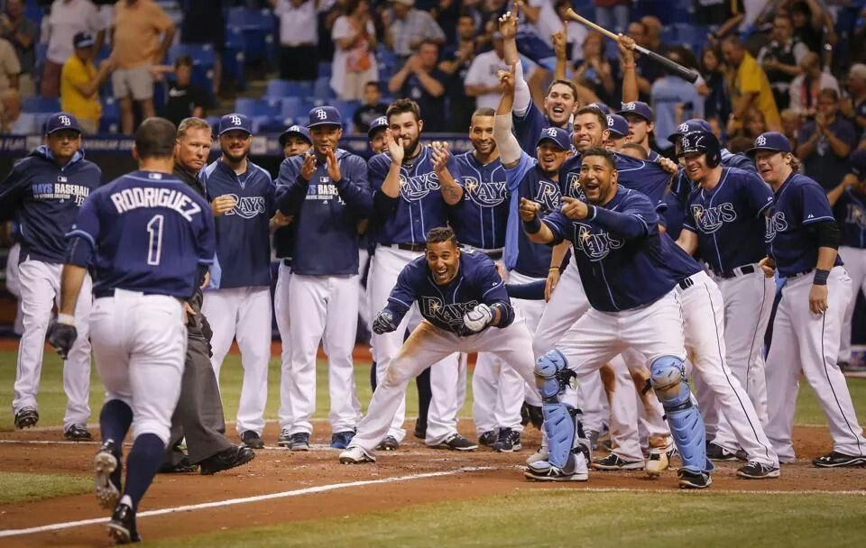 Tampa Bay Rays Love To See Our Boys Smiling Again Rays Battle To Win The Last Game Against Oakland And Sean Rod Rays Baseball Tampa Bay Rays Sean Rodriguez