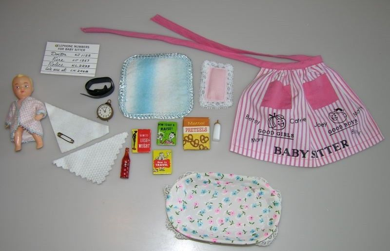 Vintage 1963 Barbie Babysits Outfit Set 953