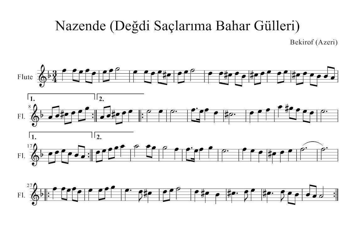 Nazende Muzik Notalari Muzik Teorisi