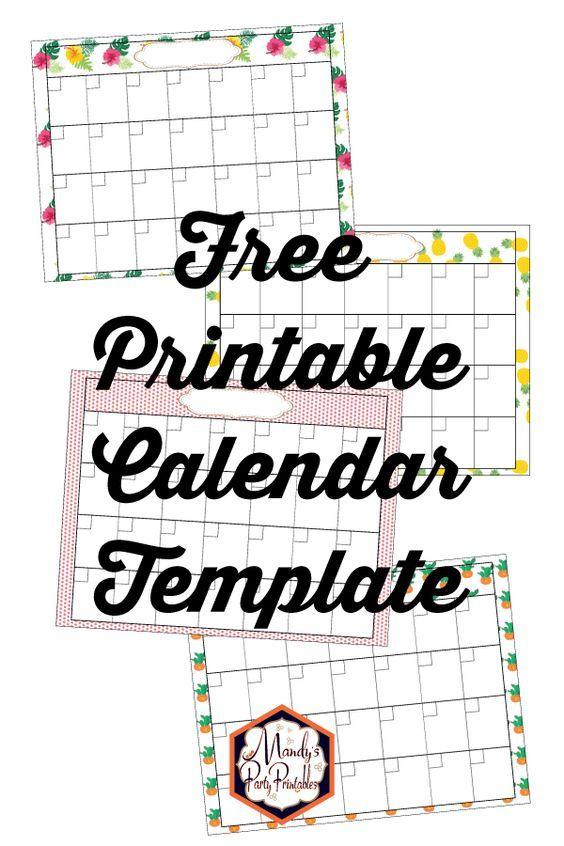 Printable Free Calendar Template a-1-1 Pinterest Free calendar