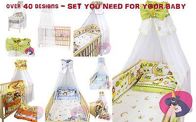 #Bedding set cot & cot bed 8 pcs #pillow,duvet,bumper,canopy,cot #tidy-100%cotton,  View more on the LINK: 	http://www.zeppy.io/product/gb/2/291653397963/