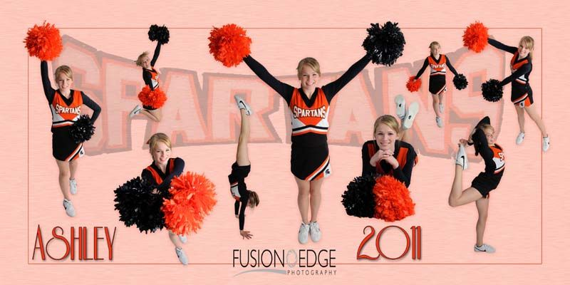 Collage for the girls cheerleading