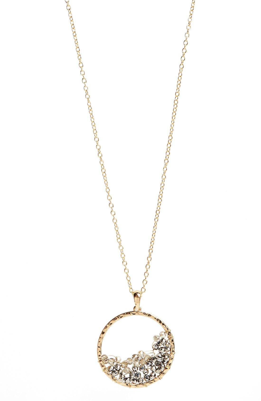 Panacea beaded circle pendant necklace pretty little things