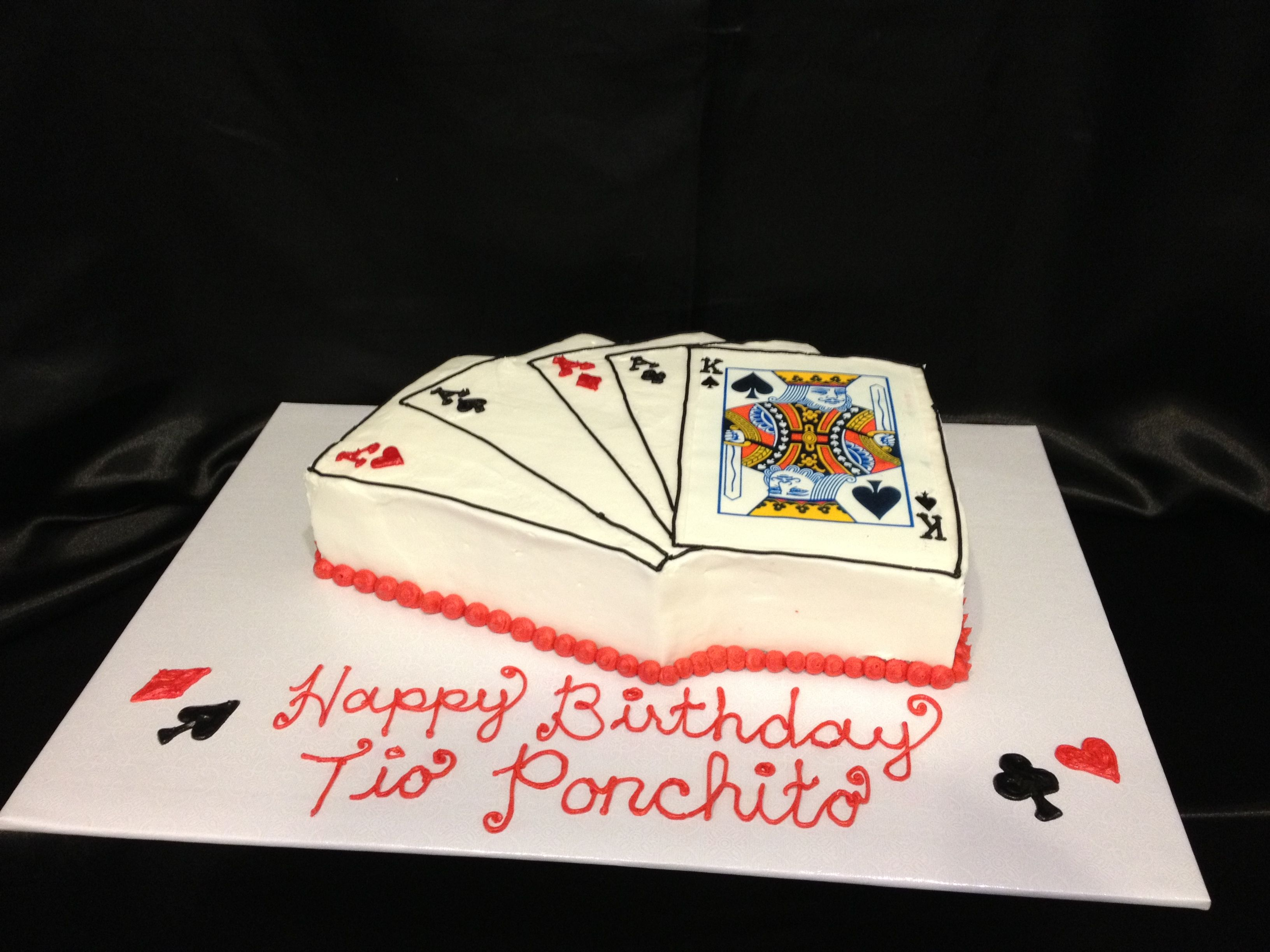 Cake Designs Playing Cards : Playing cards cake R&A Cakes Pinterest Playing cards ...