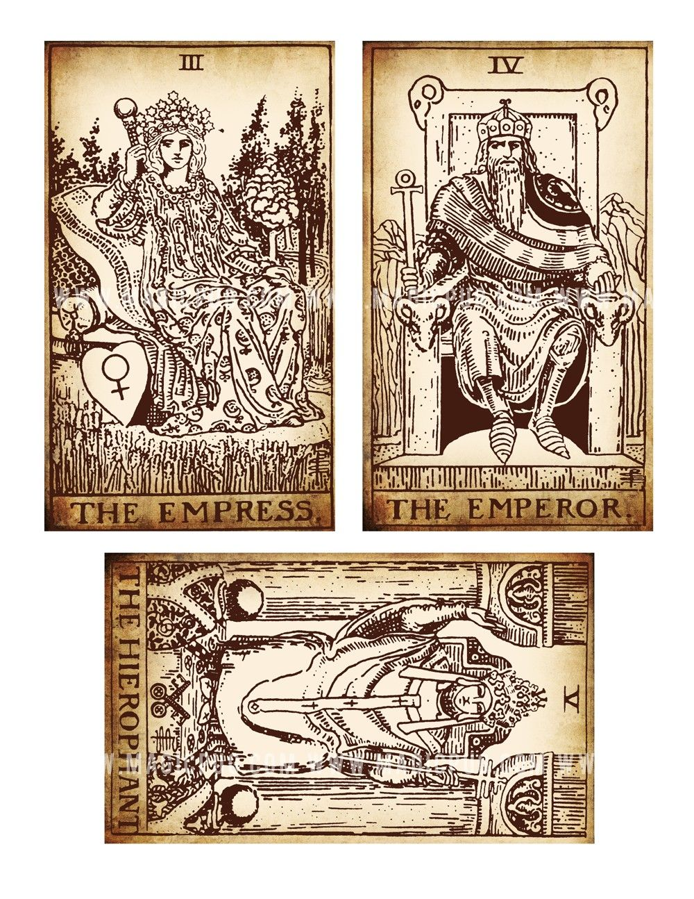 photo relating to Printable Tarot referred to as Antique Printable Tarot PDF electronic collage sheet modified