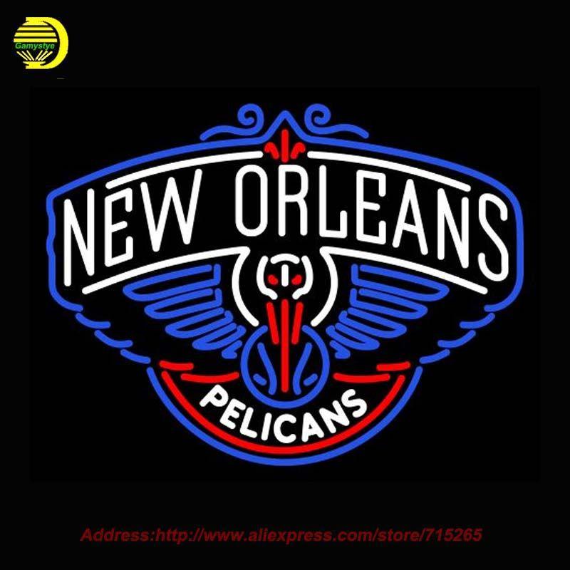 New Orleans Pelicans Nbaa Neon Sign Neon Bulb Ncharlotte