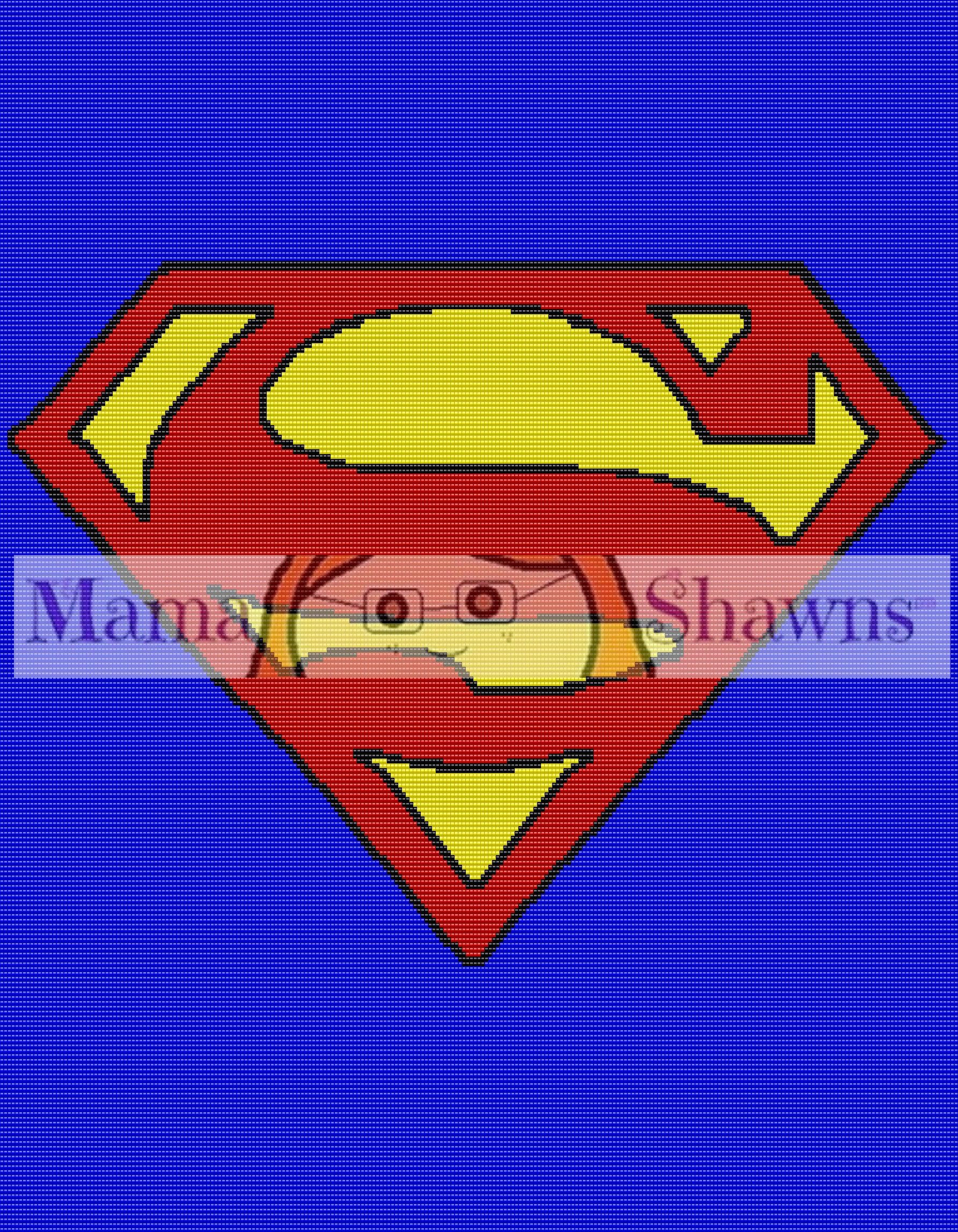 Superman Inspired Graphghan, Written Pattern, Word Chart, Row by Row ...
