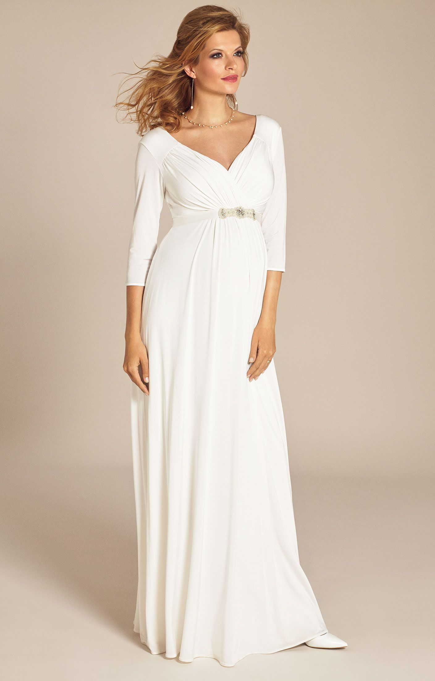 Lexi maternity wedding gown ivory maternity wedding