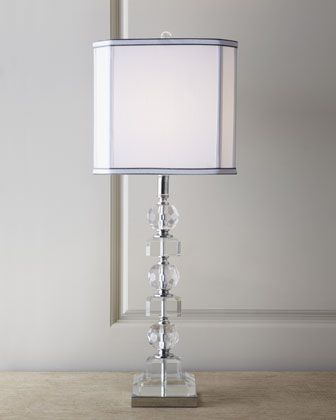 stacked crystals table lamp | bedrooms, master bedroom and lights