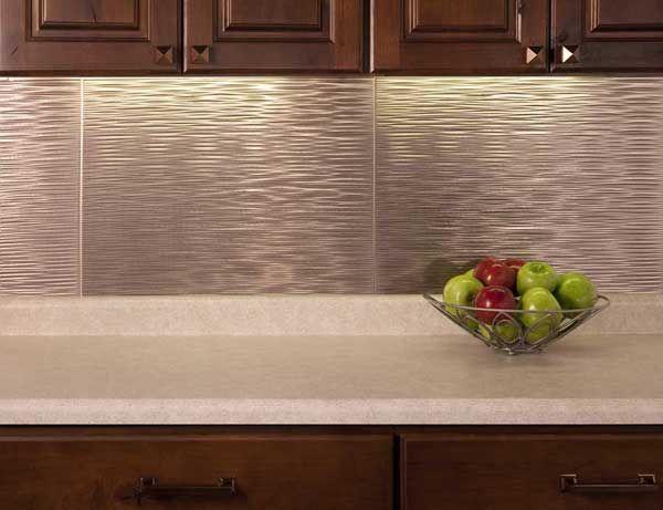 Fasade Backsplash Panel Ripple In Brushed Nickel Backsplash Panels Kitchen Backsplash Panels Backsplash