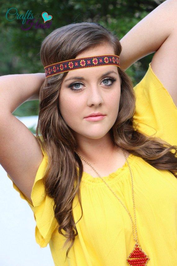 Tribal Headband - Boho Headband - Halo Headband - Bohemian Headband -  Hippie Headband - Crown Headba bb59f77eae1
