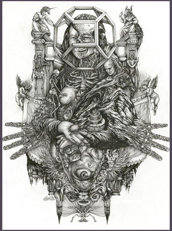 DZO Olivier's Intricate Pen Drawings   Hi-Fructose Magazine