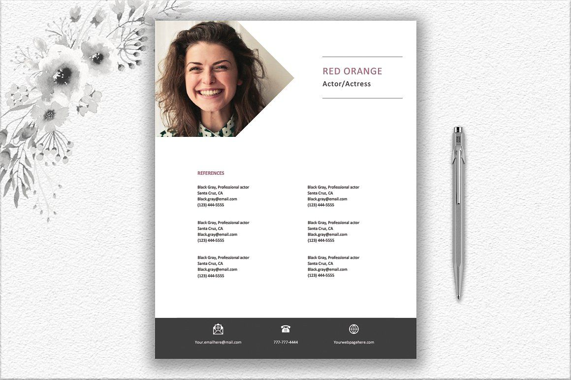 Actor Actress Resume Template #reply#contact#occurs#hours ...