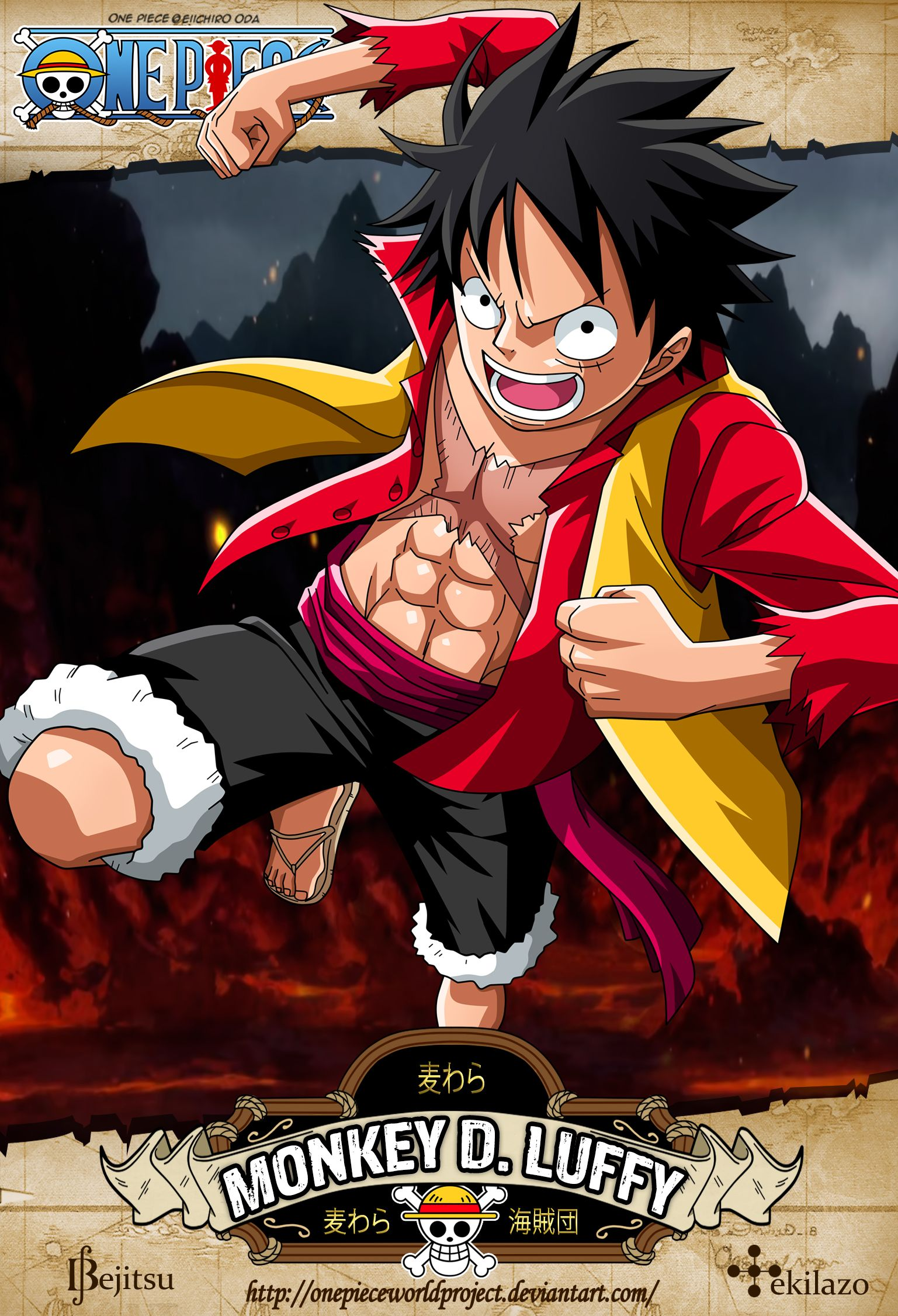 One Piece Monkey D Luffy By Onepieceworldproject