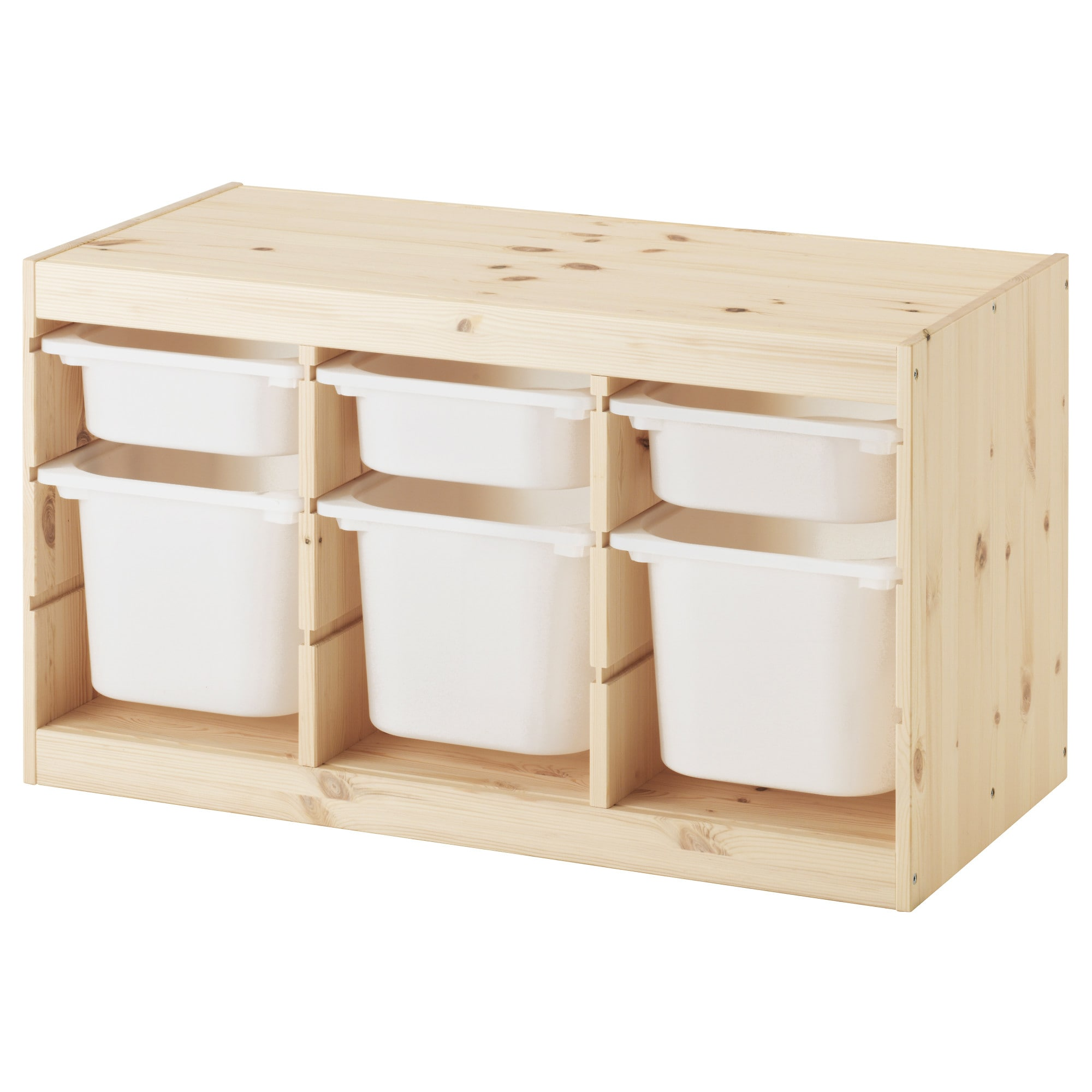 Trofast Opbergkast Ikea.Trofast Storage Combination With Boxes Pine Light White Stained