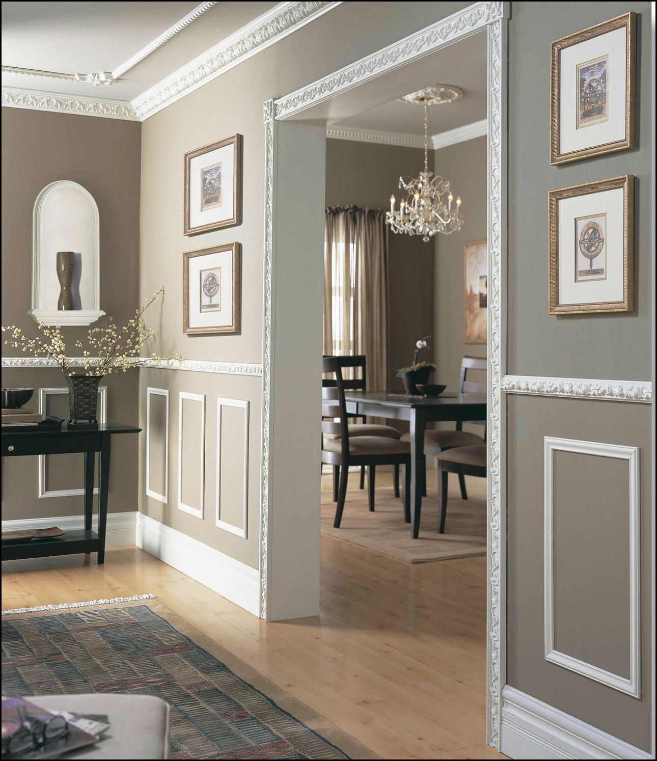 Dining Rooms With Wainscoting: 27 Best Baseboard Style Ideas & Remodel Pictures