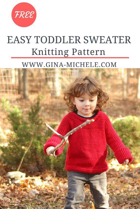 Easy Knit Toddler Sweater Knitting Pattern Knitting Patterns