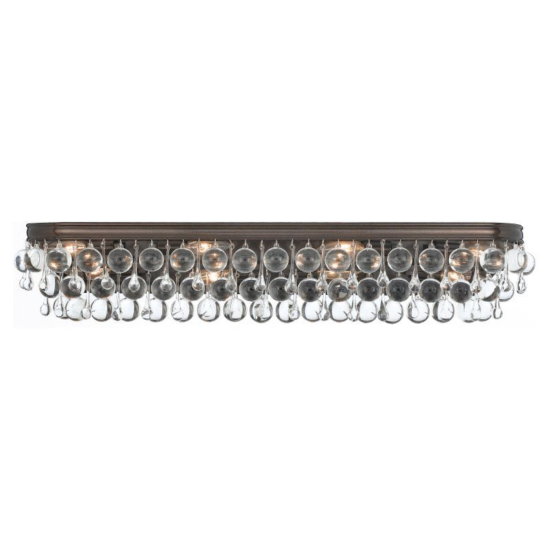 Crystorama calypso 134 bathroom vanity light 134