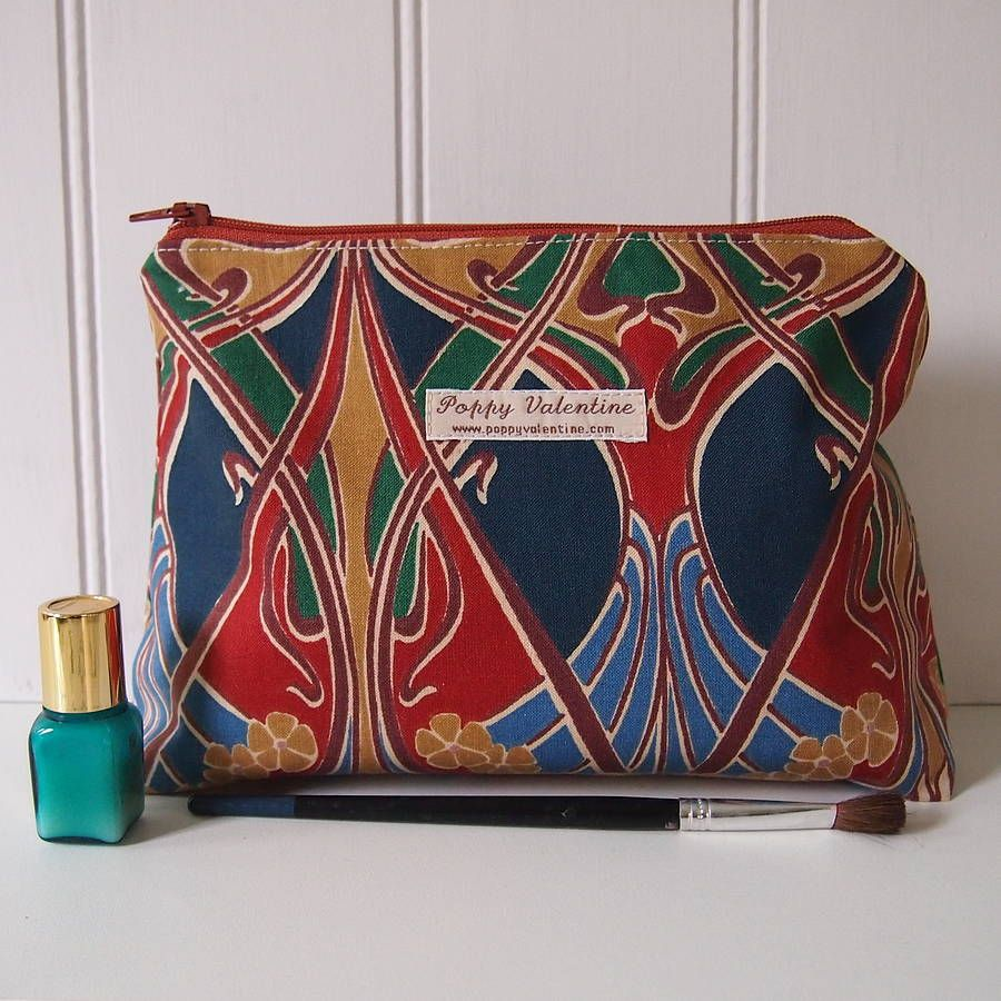 ianthe liberty print make up bag by poppy valentine
