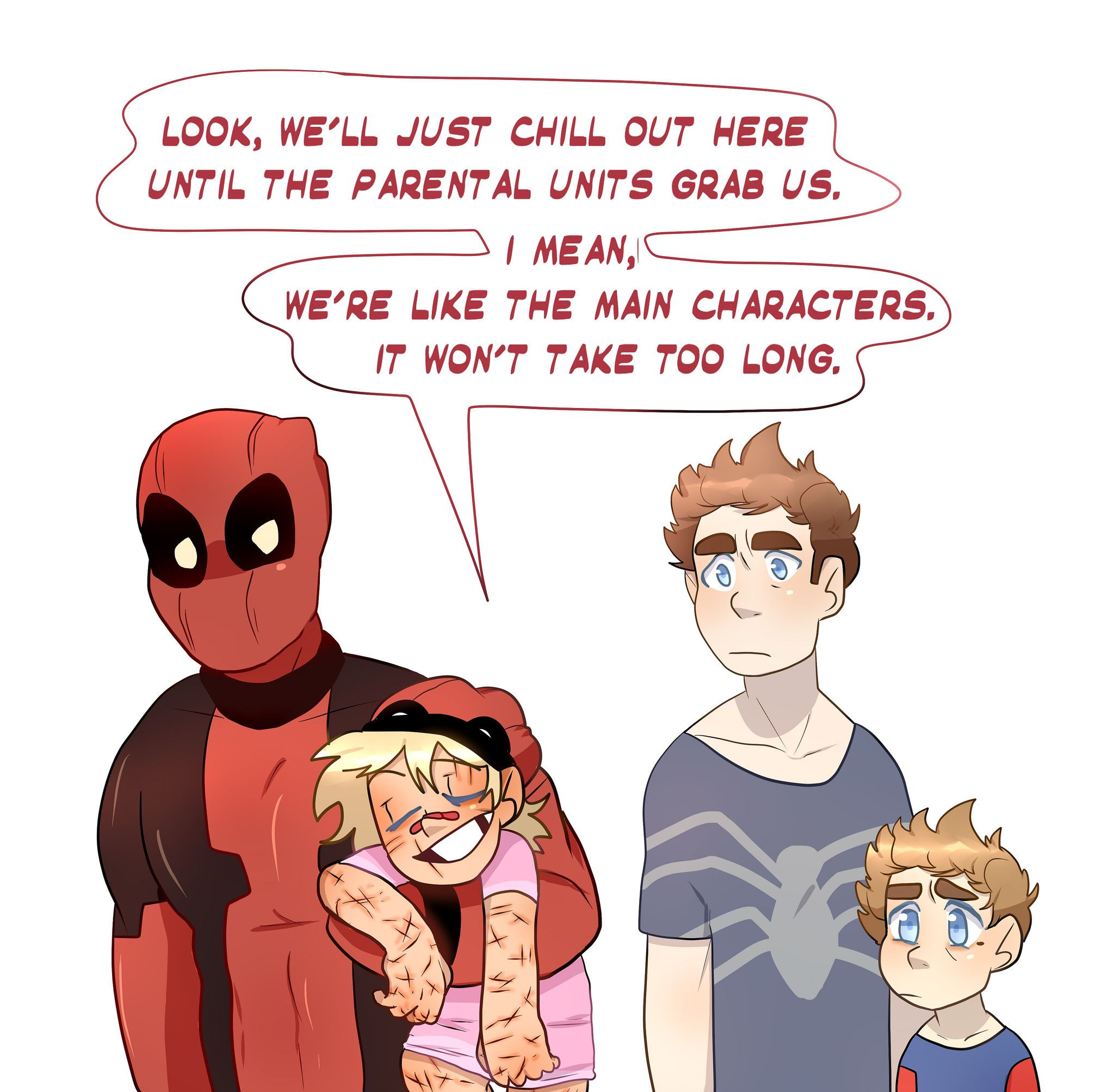 The Little Hero Au Peter You Re Way Too Calm Wade Hey It S My