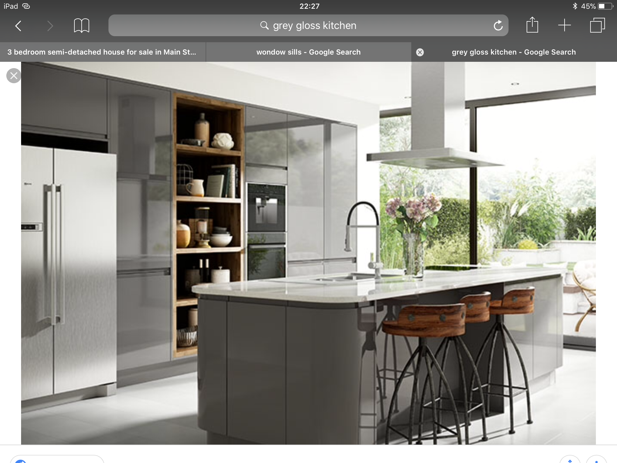 Pin by danielle parry on Kitchen Grey gloss kitchen