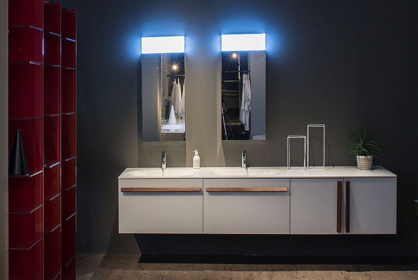 Artelinea Bagno ~ Simple white bath vanity by artelinea domino collection