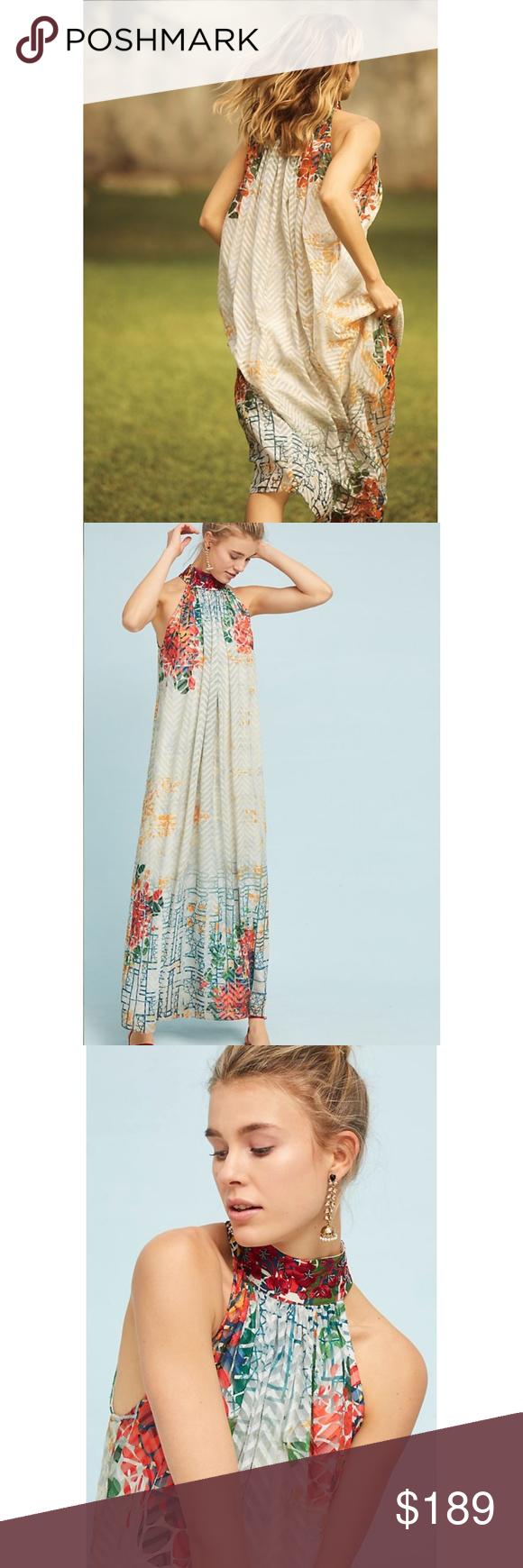 348d6d1a1475 NWT ANTHROPOLOGIE Bhanuni Jyoti Marilla Maxi Dress RARE HTF Brand new with tags  NWT ANTHROPOLOGIE Bhanuni