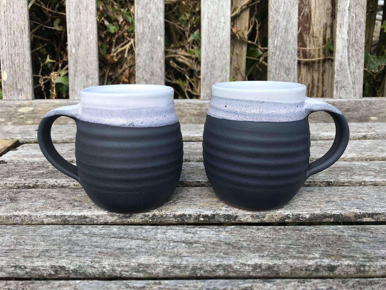 Excited to share this item from my #etsy shop: Ceramic Mug / handmade pottery / black & white #housewares #ceramicshandmade #handmadeceramics #handmadepottery #ceramicsandpottery #handmadeceramic #ceramic #handmade #mug