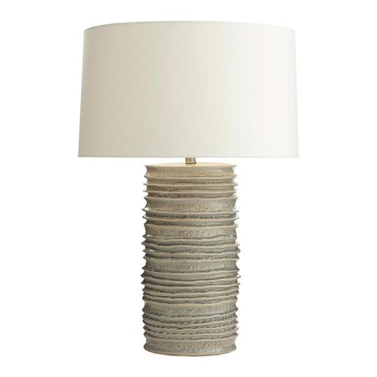 Homer lamp organic traditional transitional ceramic task lighting desk lamp by arteriors