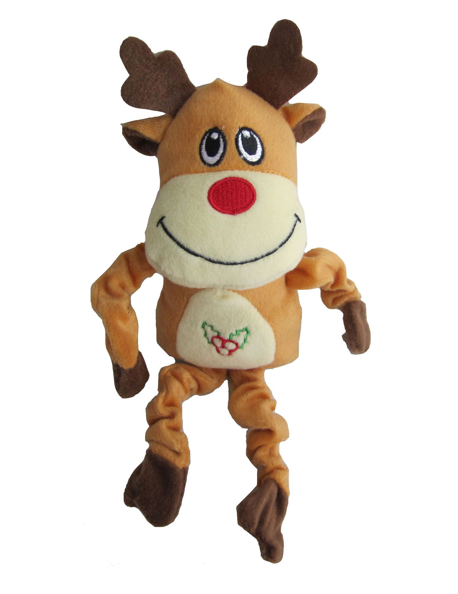 Iconic Pet Christmas Christmas Reindeer Squeaky Toy This