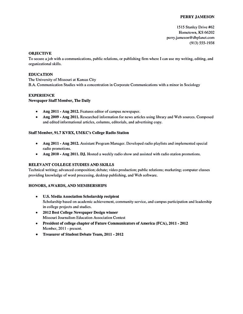 College Resume New College Student Resume Can Wait For Few Years Or Moment Because Decorating Design