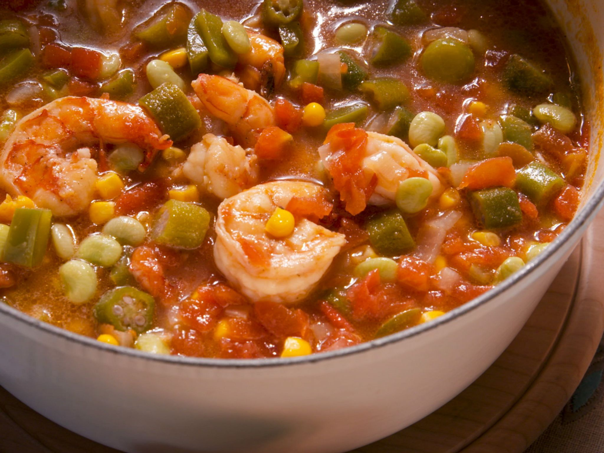 Kardea's Okra Soup with Shrimp Recipe Butter, Shrimp