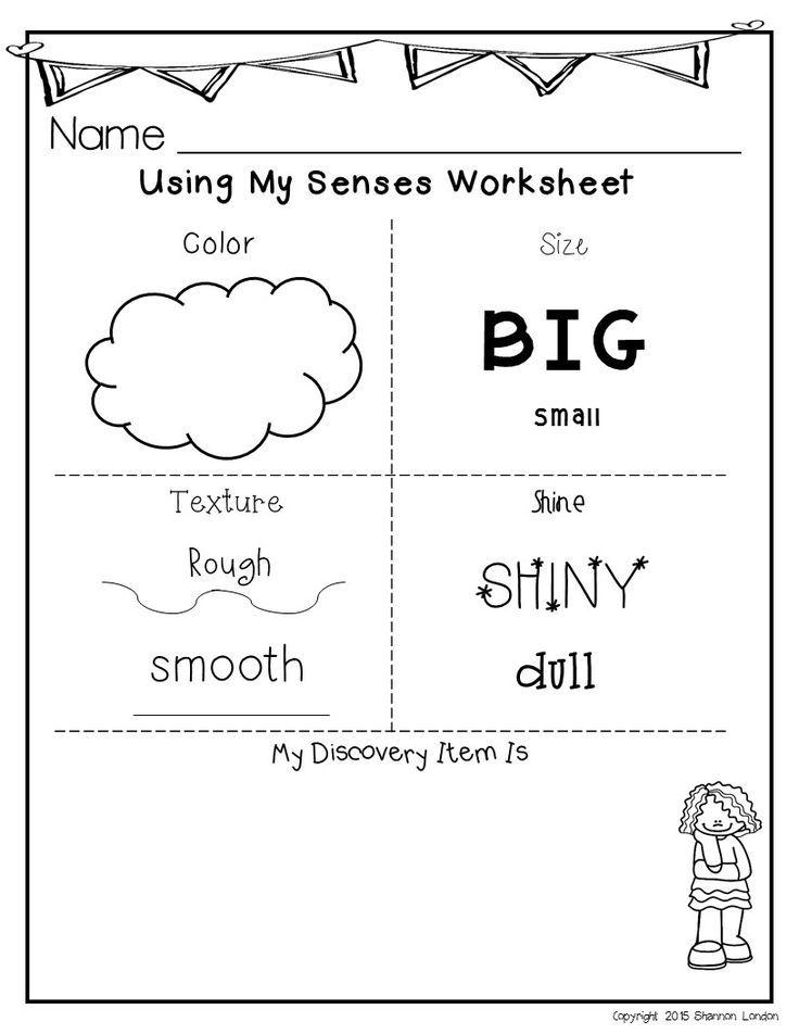 Senses Worksheets Five Senses Worksheet Kindergarten Reading Activities Preschool Science Activities The five senses worksheets