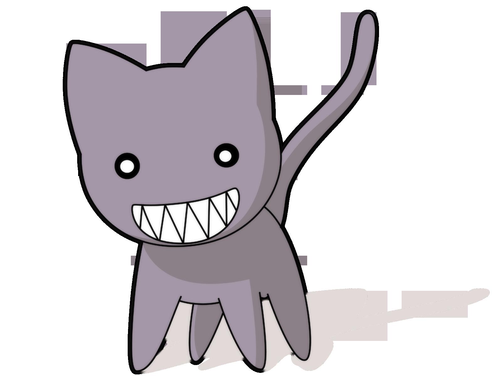 Картинки котов аниме без фона, удачного