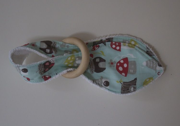 Free Wooden Teething Ring Tutorial Stitches Fabrics And