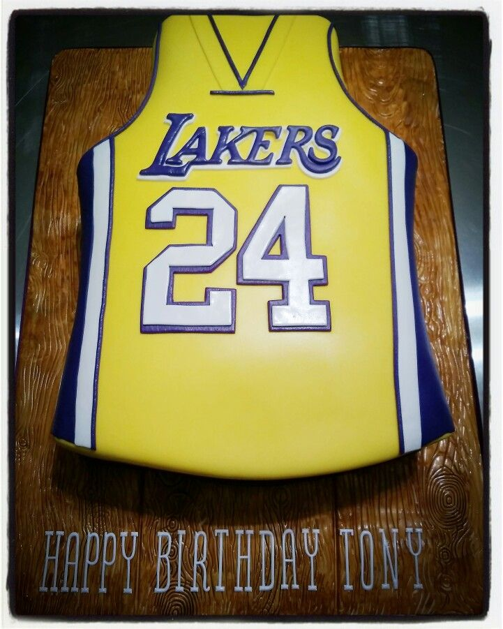 Lakers Jersey Cake With Images Lebron James Birthday 10th