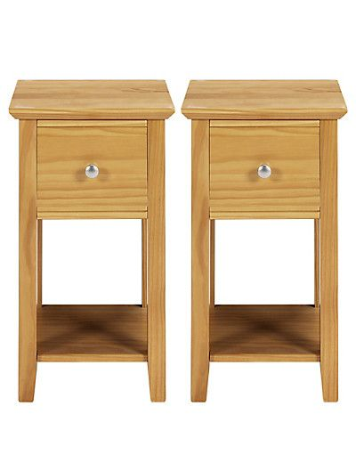 Compact Bedside Table hastings natural compact bedside chests | compact and natural