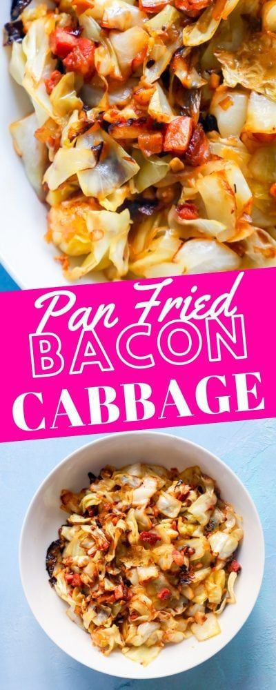 Fried Cabbage with Bacon and Onions Recipe - Sweet Cs Designs