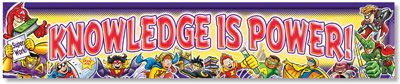 NS1213 Knowledge is Power! Superheroes Banner