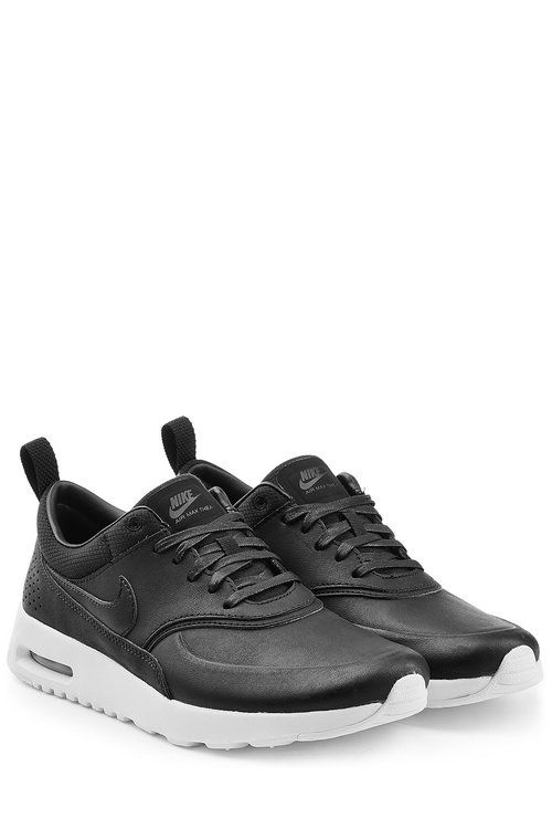 Air Max Thea Premium Leather Sneakers | Nike | Black nike