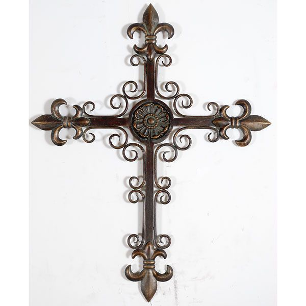 decorative metal wall crosses | ... items home wall decor art wall ...