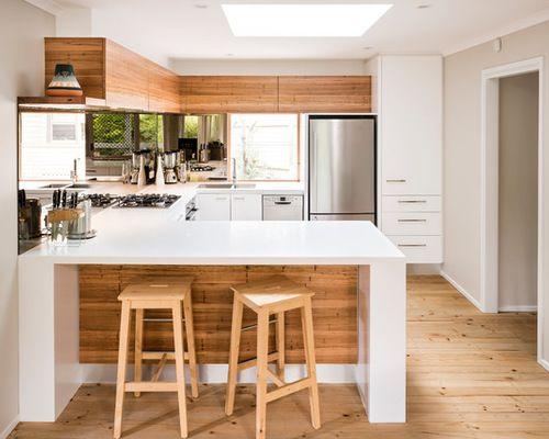 Small Trendy U Shaped Eat In Kitchen Design Kitchen Layout