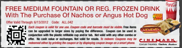 Free Drink W Nachos Or Hot Dog Purchase From Cinemark Theatres Coupon Printable Coupons Free Printable Coupons Coupons