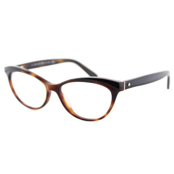 Kate Spade KS Steffi JNH Havana Black Plastic Cat-Eye Eyeglasses 52mm