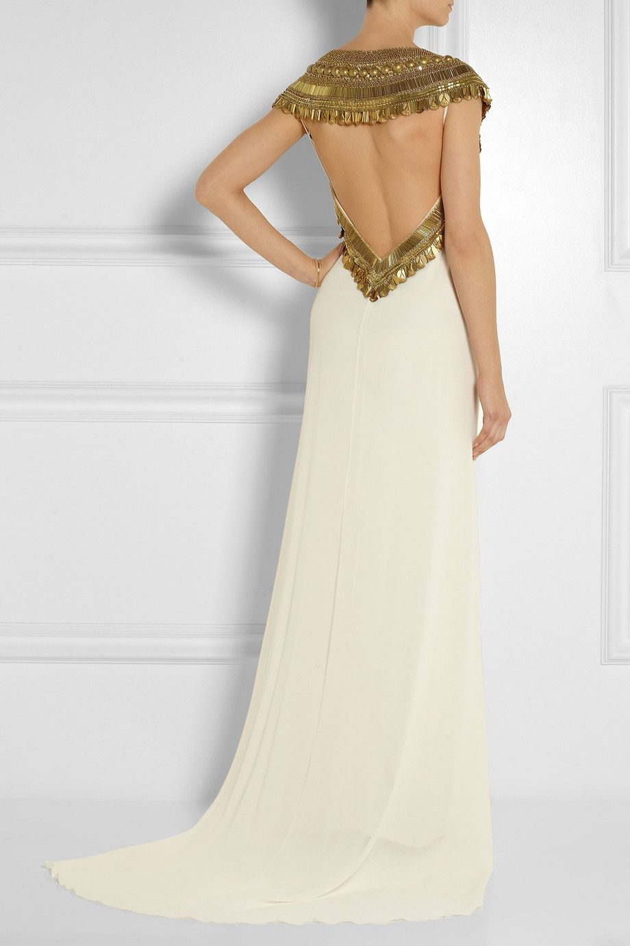 Temperley London | Goddess embellished silk-chiffon gown | NET-A ...