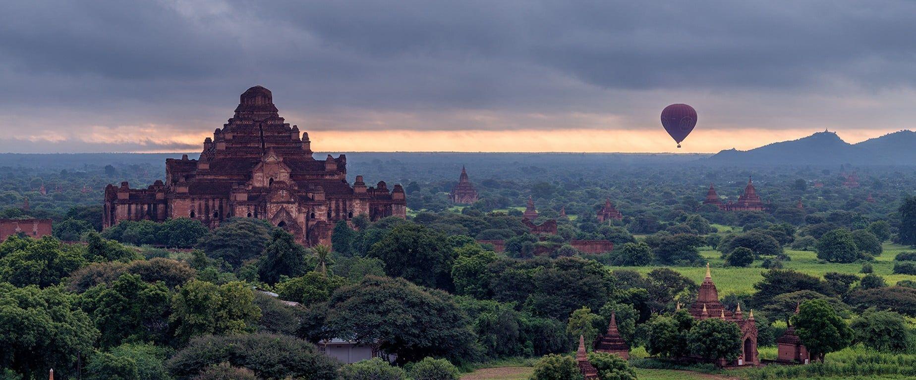 brown hot air balloon #Burma hot air balloons #Bagan #720P #wallpaper #hdwallpaper #desktop