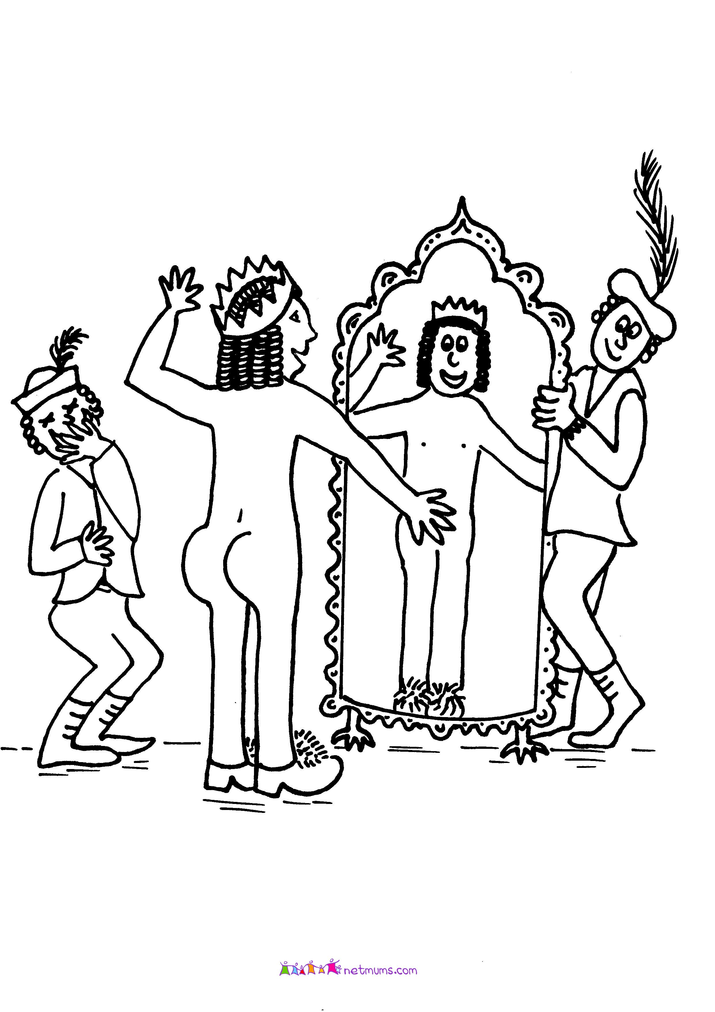 The Emperors New Clothes Coloring Page Things To Wear Pinterest Emperor Suckers