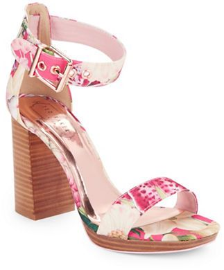 7992b8fba Ted Baker London Lorno Stacked Block Heel Fabric Sandals ...