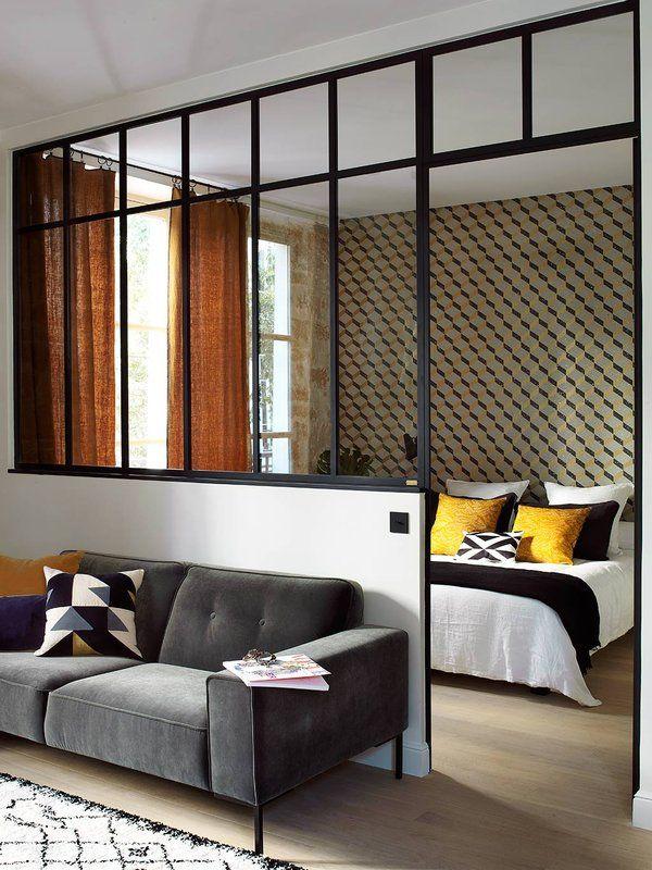 Un piso de 45m2 con aires de loft dormitorio for Cortinas departamentos pequenos